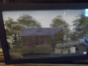 BILLY JACOBS PRODUCE WAGON PRINT Under Glass Black Frame USA MADE