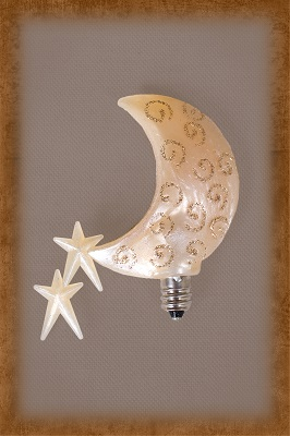 GLITTER SWIRL MOON SHOWER BULB