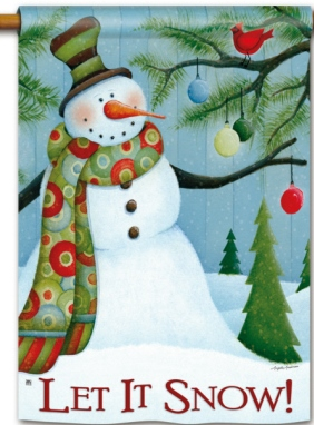 LET IT SNOW FLAGS by Breeze Art MAGNET WORKS Snowman  Cardinal  Trees
